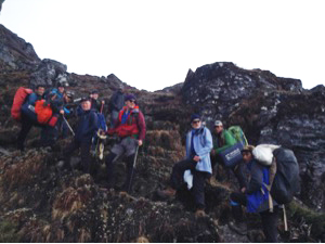 Group heading Intermediate camp above Panch Pokhari